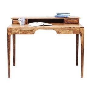 Brązowe biurko z egzotycznego drewna Kare Design Brooklyn