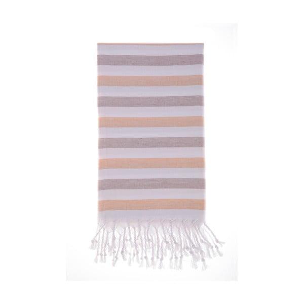 Ręcznik hammam Didim Brown, 100x180 cm