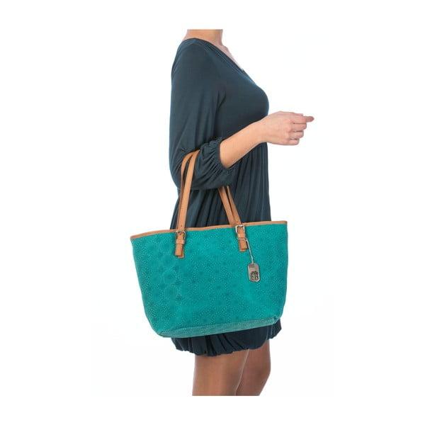 Skórzana torebka Girandola Turquoise