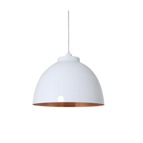 Lampa wisząca Kylie White Copper, 45 cm