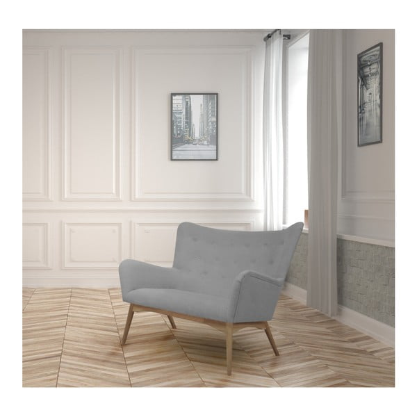 Szara sofa 2-osobowa Helga Interiors Karl