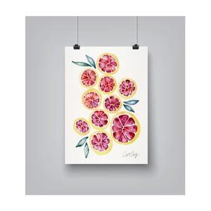 Plakat Americanflat Grapefruit Slices, 30x42 cm