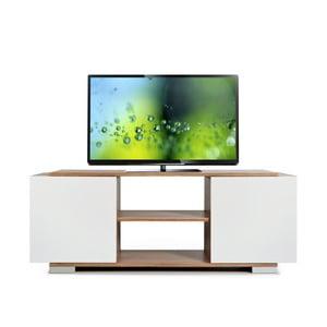 Stolik telewizyjny Pera, biały/samba