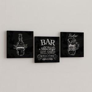 Zestaw 3 obrazów Bar
