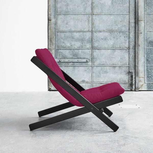 Fotel składany Karup Boogie Black/Pink