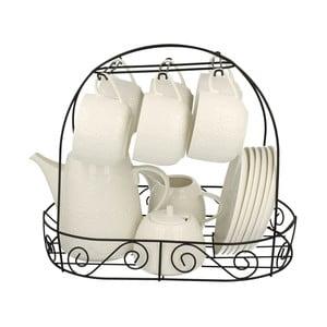 15-częściowy zestaw porcelany na stojaku Koronka
