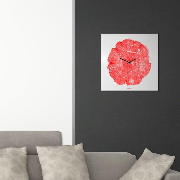 Zegar ścienny dESIGNoBJECT.it Life Red,50x50cm