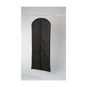 Czarny materiałowy pokrowiec na sukienki Compactor Dots