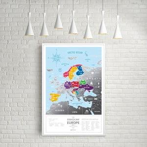 Mapa-zdrapka świata Scratch Map of the Europe Black