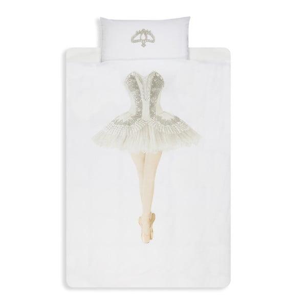 Bawełniana pościel jednoosobowa Snurk Ballerina 140 x 200 cm
