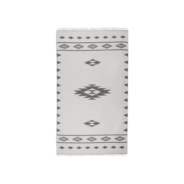 Szary ręcznik hammam Alpha, dwustronny