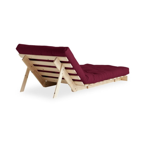 Fotel rozkładany Karup Design Roots Raw/Bordeaux