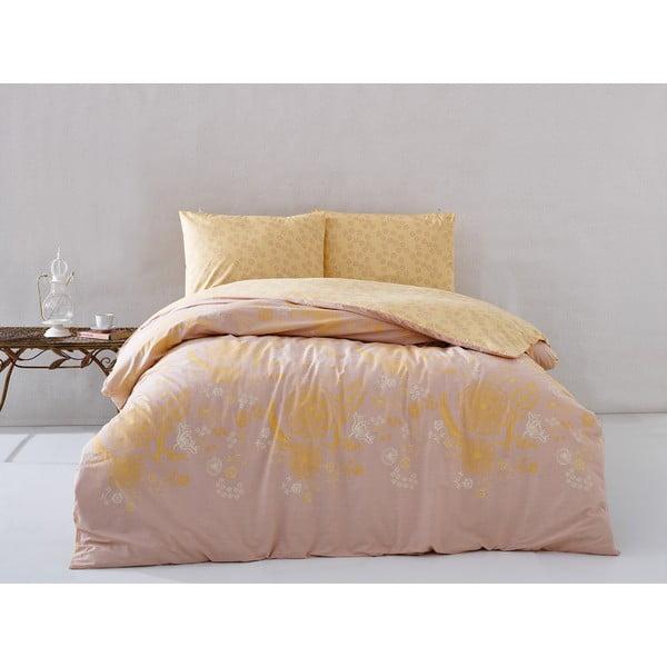 Pościel Orange Floral, 160x220 cm