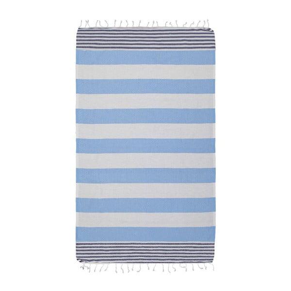 Ręcznik hammam Ellis Dark Blue, 100x180 cm