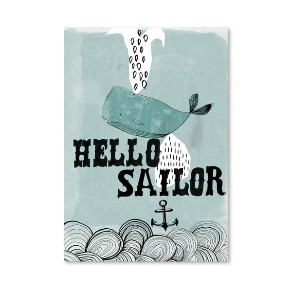 Plakat Hello Sailor, 30x42 cm