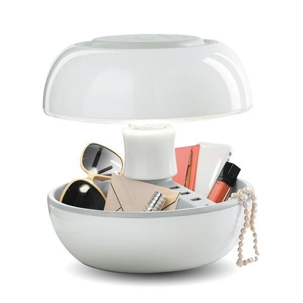 Lampa stołowa, ładowarka i głośnik w jednym Joyo Classic, biała