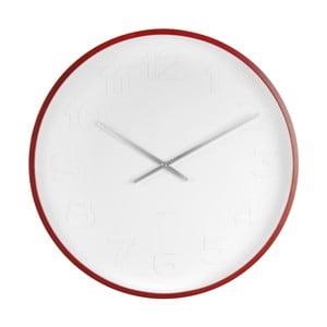 Biały zegar ścienny Karlsson Mr Woody Numbers