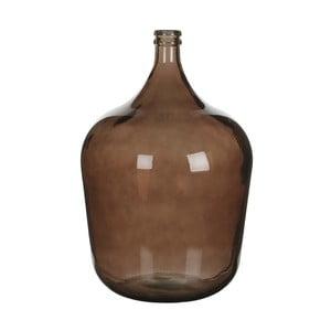 Brązowy wazon szklany Mica Diego, 56x40cm