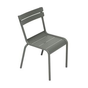 Szare krzesło dziecięce Fermob Luxembourg