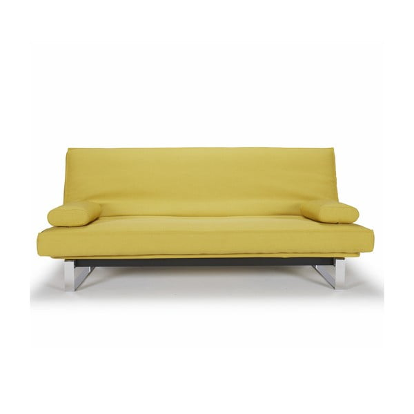 Żółta sofa rozkładana Innovation Minimum
