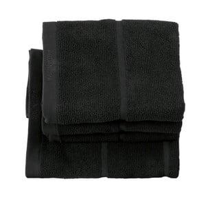 Czarny ręcznik Aquanova Adagio, 55x100cm