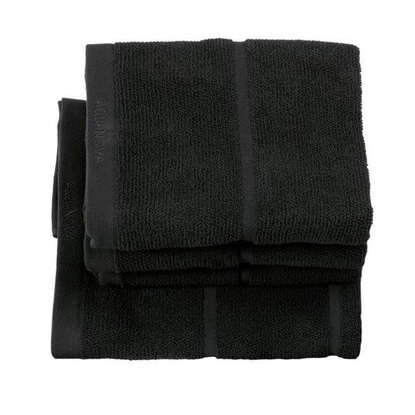 Czarny ręcznik Aquanova Adagio, 55x100 cm