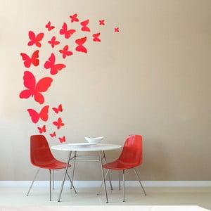 Naklejka dekoracyjna na ścianę Czerwone motyle