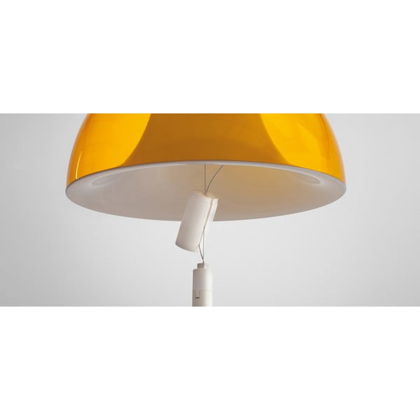 Lampa sufitowa Pedrali L002S/BA, żółta półprzeźroczysta