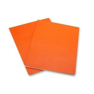 Zestaw 2 pomarańczowych bloków Moleskine Volant
