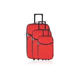 Komplet 3 walizek Valis Red