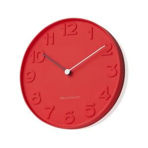 Czerwony zegar ścienny Numbers