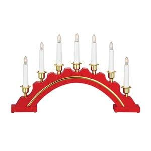 Czerwony świecznik drewniany LED Markslöjd Celine