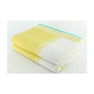Komplet 2 ręczników Yellow Line, 70x140 cm