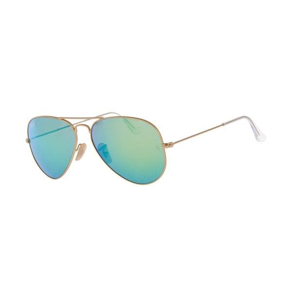 Okulary przeciwsłoneczne Ray-Ban Aviator Flash Gold Aqua