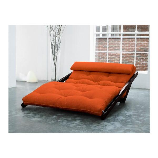 Szezlong Karup Figo, Wenge/Orange, 120 cm