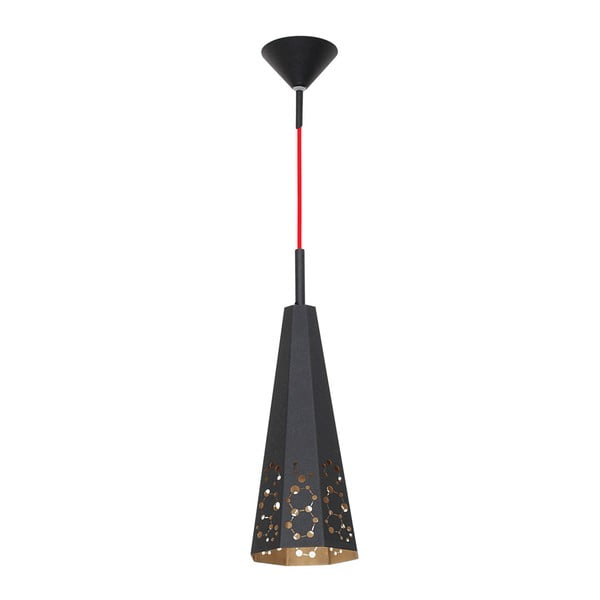 Czarna lampa wisząca Anetis