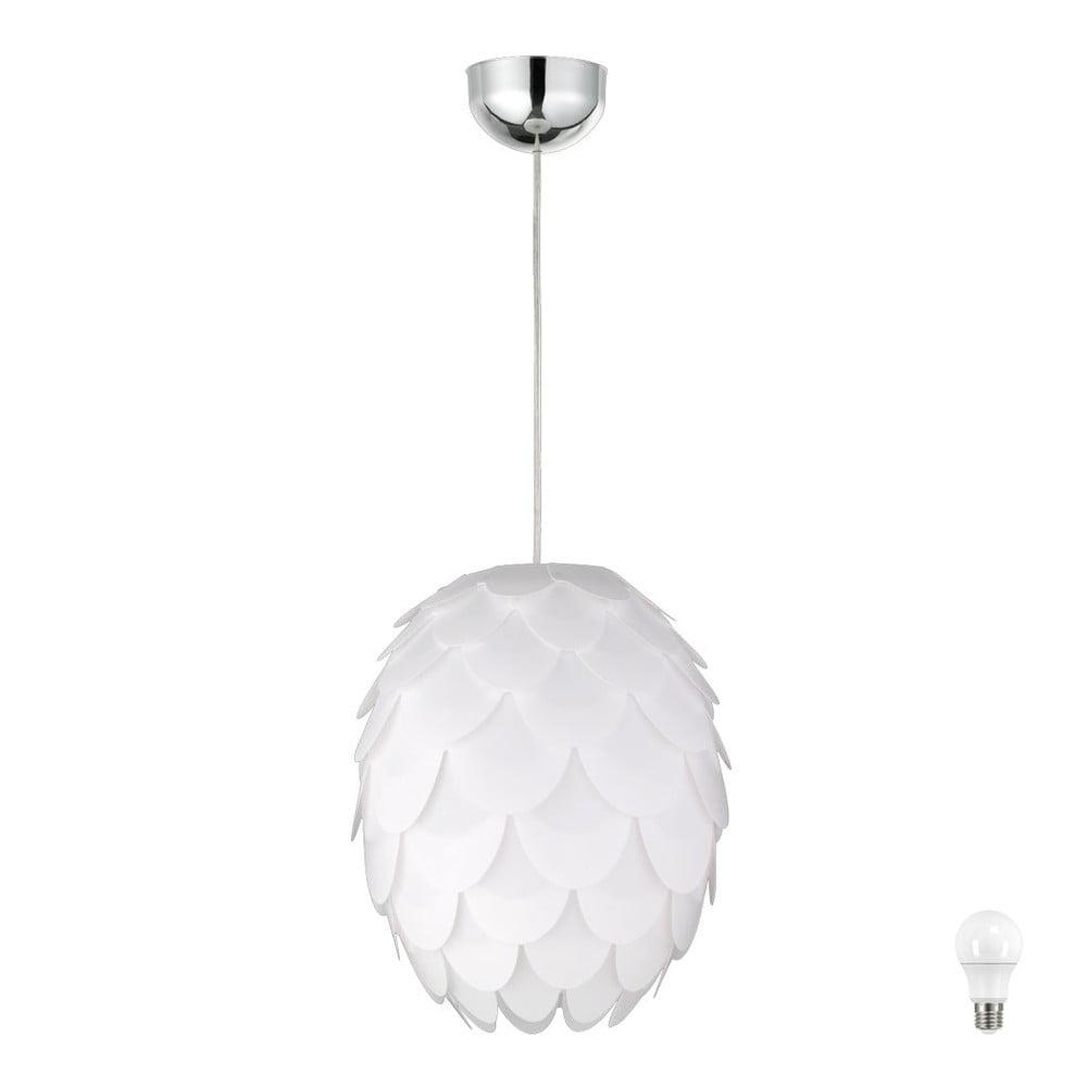 Biała lampa sufitowa Trio Pendant Choke, wys. 150 cm