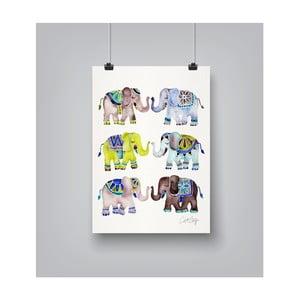 Plakat Americanflat Elephant Collection, 30x42 cm