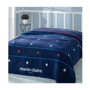 Ciemnoniebieski koc z kolekcji Marie Claire Carte, 200x220 cm