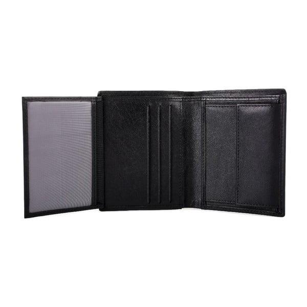Skórzany portfel Lois Black, 8,5x10,5 cm