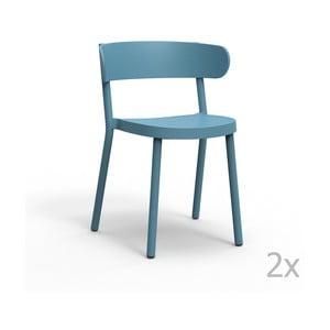 Zestaw 2 niebieskich krzeseł ogrodowych Resol casino