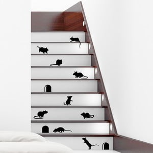 Zestaw 12 naklejek Ambiance Funny Stairs
