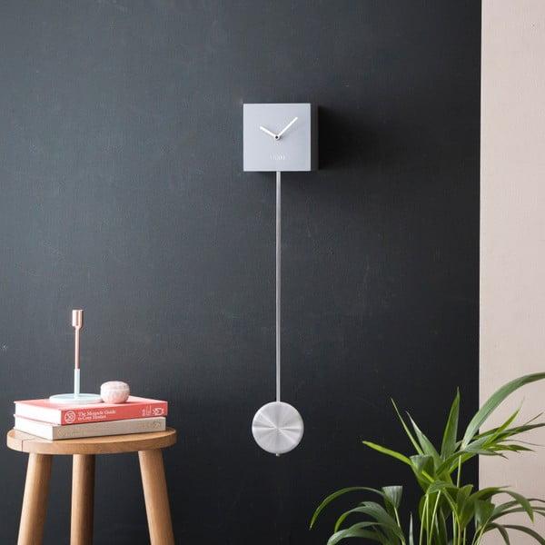 Szary zegar ścienny Fisura Pendulum