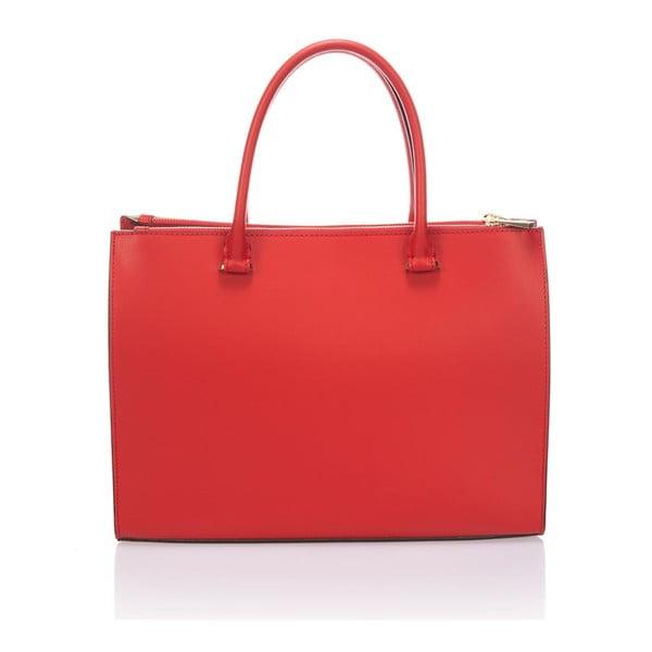 Skórzana torebka Krole Kate, czerwona