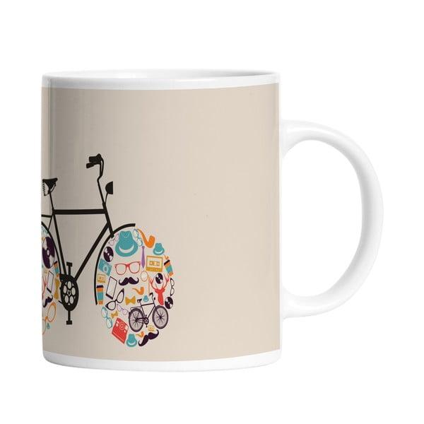 Ceramiczny kubek My Bike, 330 ml