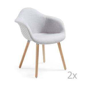 Zestaw 2 szarych krzeseł La Forma Kenna