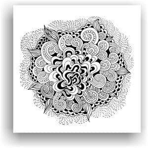 Obraz do kolorowania 2, 50x50 cm