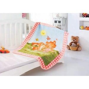Koc dziecięcy Baby Rabbit, 100x120 cm