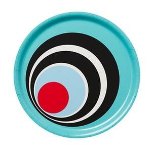 Taca drewniana Tray Bleu Circle