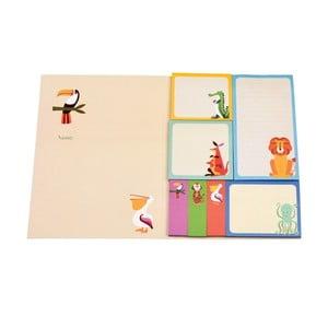 Zestaw 7 karteczek samoprzylepnych Rex London Colourful Creatures